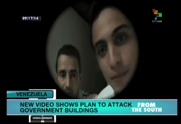 Saleh (right) discussing violent plots on video. (Youtube screenshot)