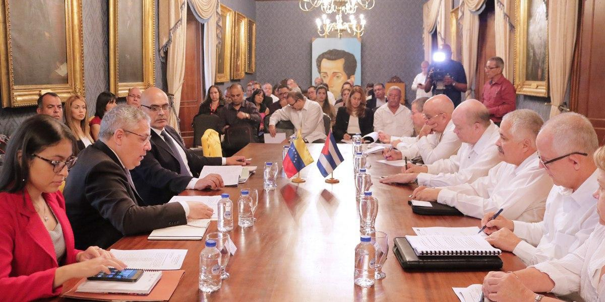 The 20th meeting of the Cuba-Venezuela Intergovernmental Commission was held in Caracas Friday. (MPPRE)