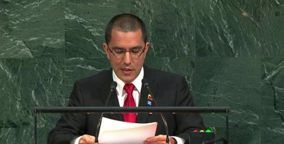 Venezuelan Foreign Minister Jorge Arreaza