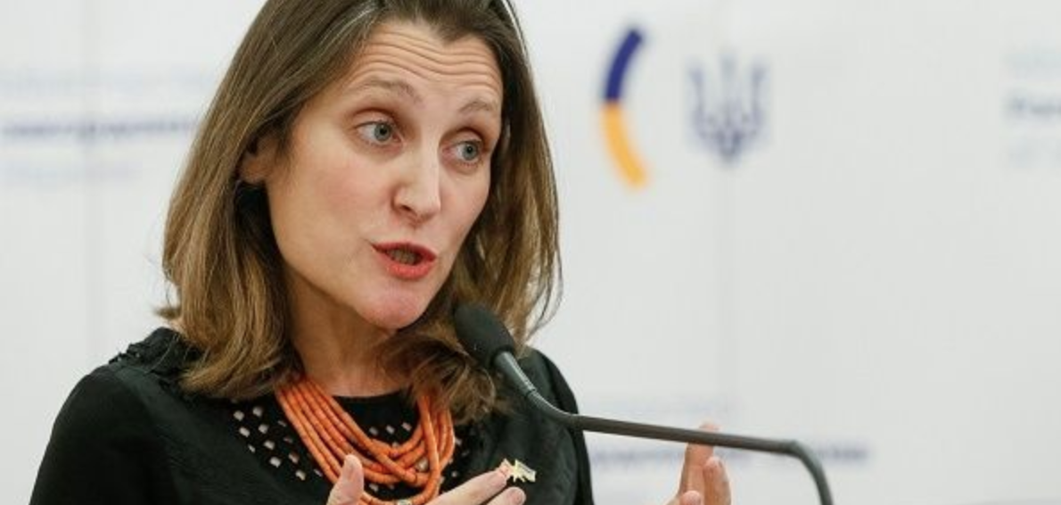 Canadian Foreign Affairs Minister Chrystia Freeland said the move was reciprocal and followed Venezuela's expulsion of Canada's charge d'affaires on Christmas Eve. (Reuters)