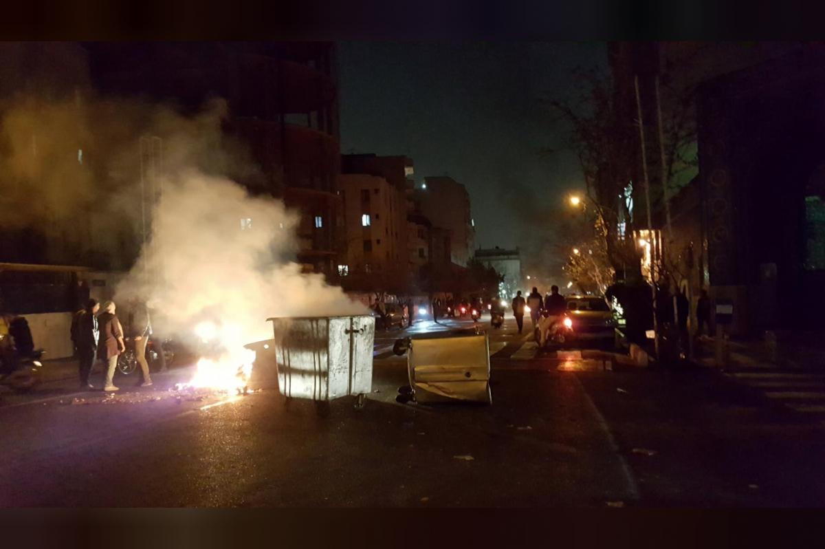 Protests in Tehran, Iran, on December 30. (Reuters/SocialMedia)