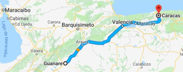 The 435 Km route of the Admirable Campesino March