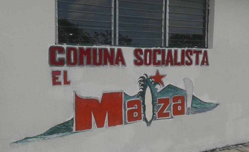 Mural in El Maizal Commune. (Ricardo Vaz)