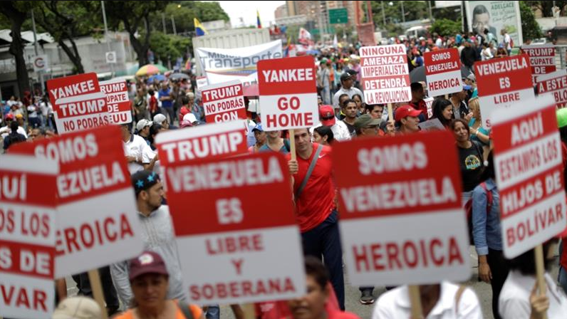 Rally against Donald Trump in Caracas, Venezuela. (Ueslei Marcelino/Reuters)