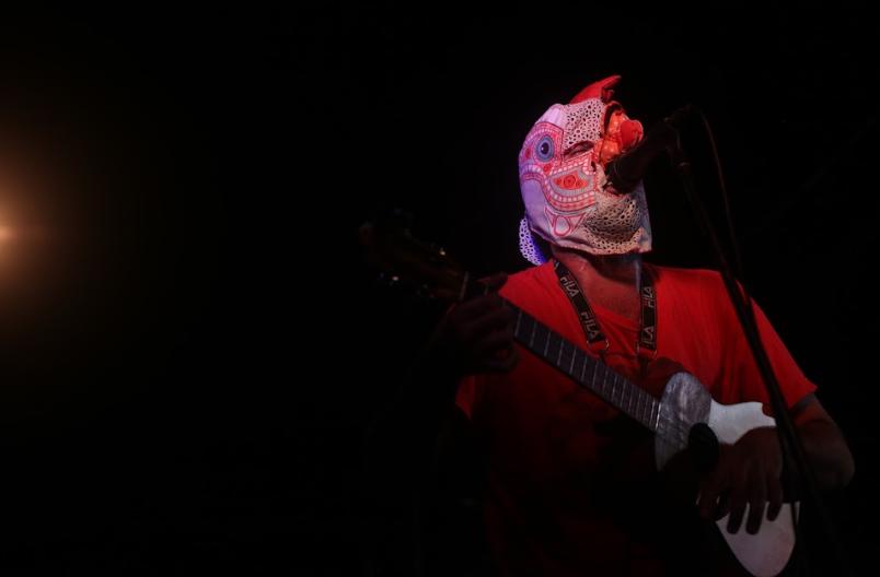 Sandino Primera held a concert to draw attention to the struggle in Cerro La Vieja (Seguei Alvarado).