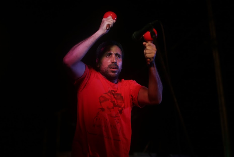 """""""""""We came here to make our voice and our music heard, because we don't want our campesino brothers and sisters to face injustices,"""" Primera said. (Seguei Alvarado)"""