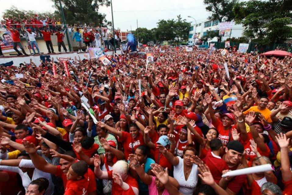 Chavista march in Caracas (Ciudad CCS)