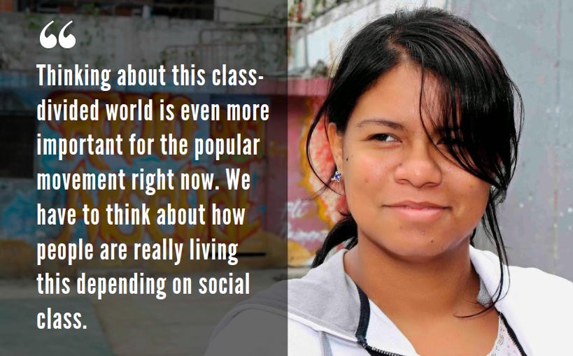 Anacaona Marin, El Panal Commune spokesperson and member of the Alexis Vive Patriotic Force. (Venezuelanalysis)