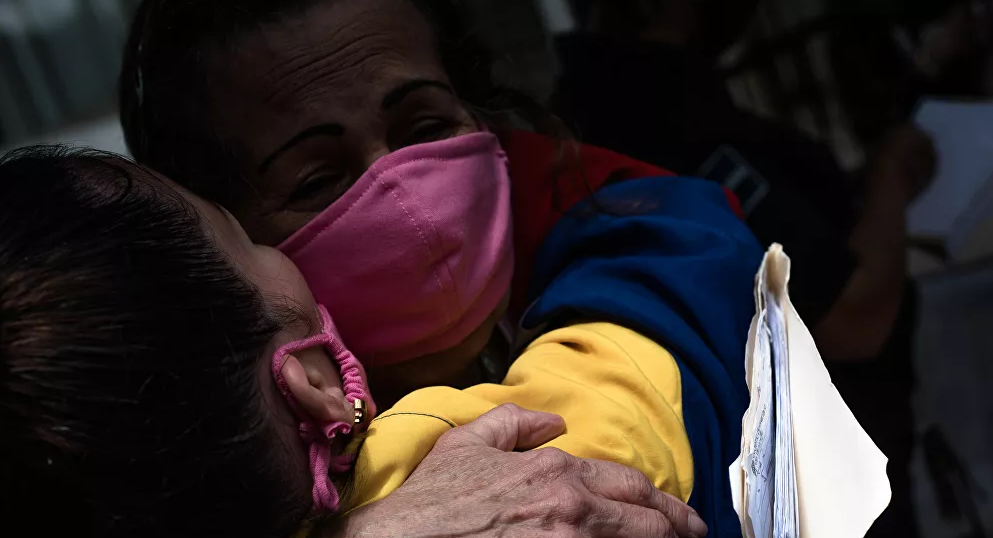Venezuelan inmates are released during the COVID-19 pandemic. (Marcelo Volpe / Sputnik)
