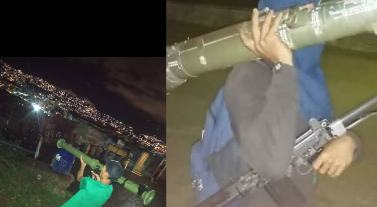 Pictures of gang members holding bazookas released on social media after police confrontations. (davidglock_)