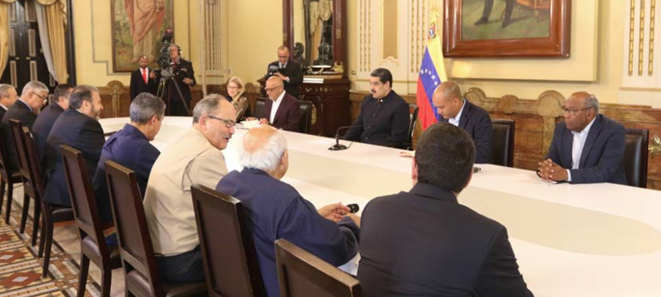 First session of the negotiating table with the democratic opposition. Caracas, September 2019. (@PresidencialVen)