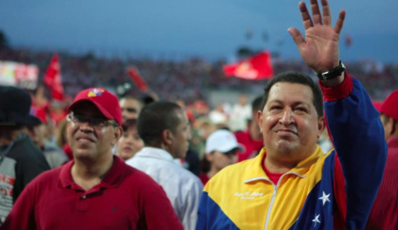 Hugo Chávez and Elías Jaua (HorizonteEnDisputa)