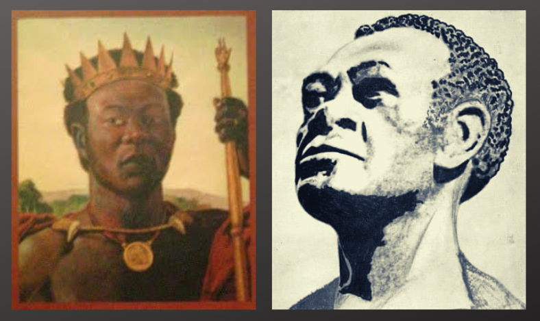 Left: a depiction of Negro Miguel, the leader of the 1553 slave and indigenous rebellion. Right: a drawing of José Leonardo Chirino, a leader of the black Jacobin rebellions at the end of the 17th century. (Archive)