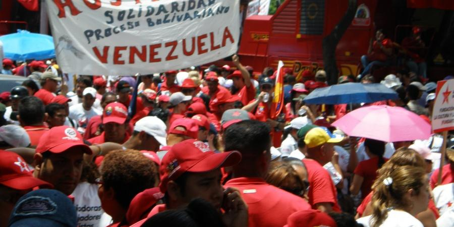 Solidarity banner in Caracas. (Archive)