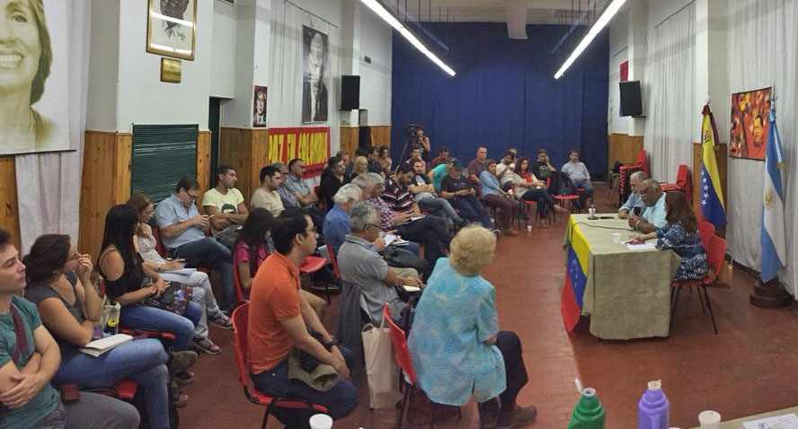 """Argentina:  Meeting in Buenos Aires to say """"We Are All Venezuela!"""""""