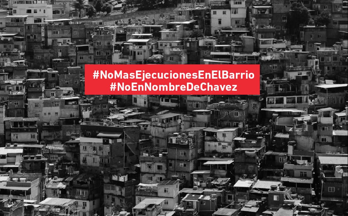 "Surgentes' ""No more executions in the barrio"" campaign seeks to denounce an increase of police killings in Venezuelan barrios."