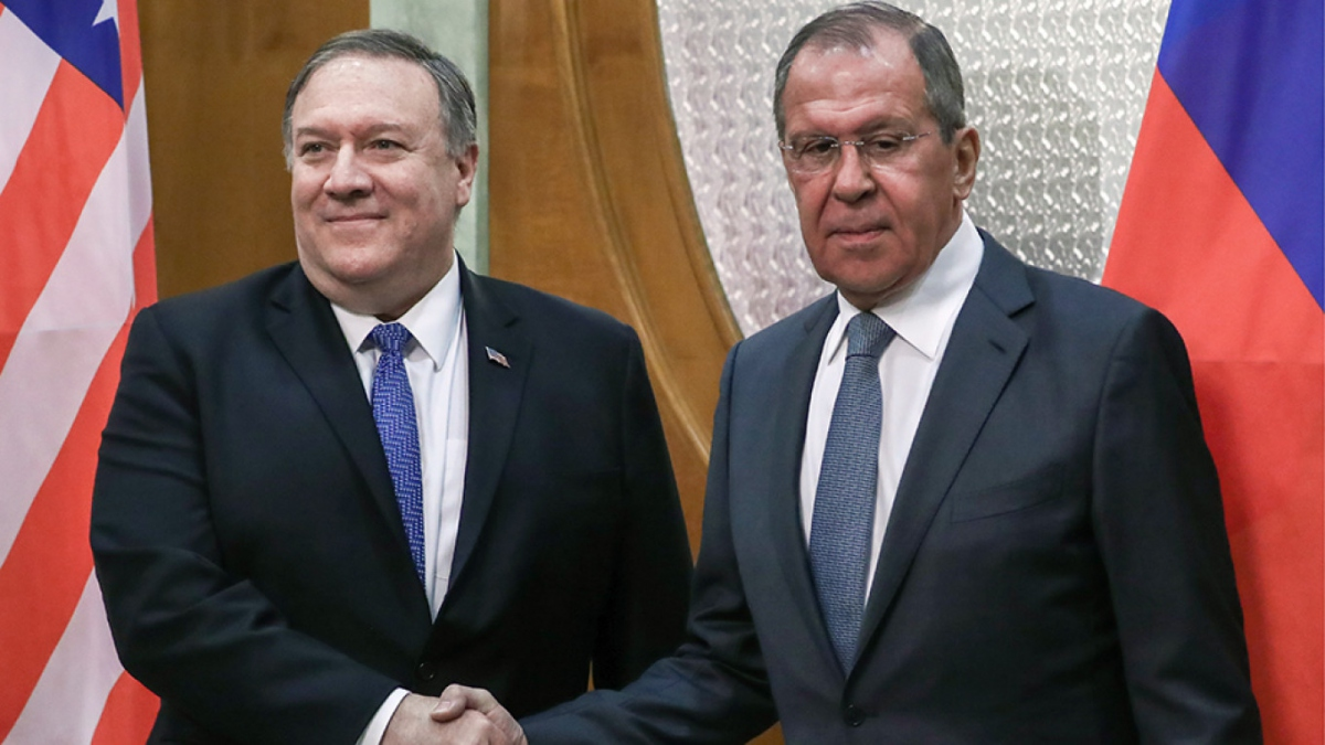 US Secretary of State Mike Pompeo and Russian Foreign Minister Sergei Lavrov meet in Sochi, Russia, to discuss the crisis in Venezuela.