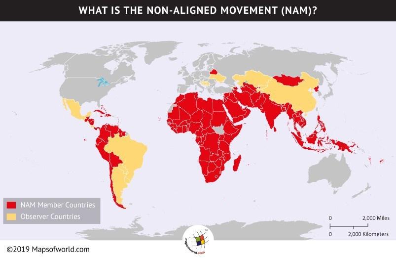 NAM member nations. (Mapsoftheworld.com)