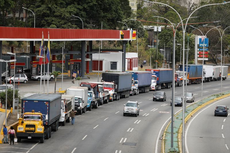 Diesel shortages have generated large queues outside service stations. (Reuters)