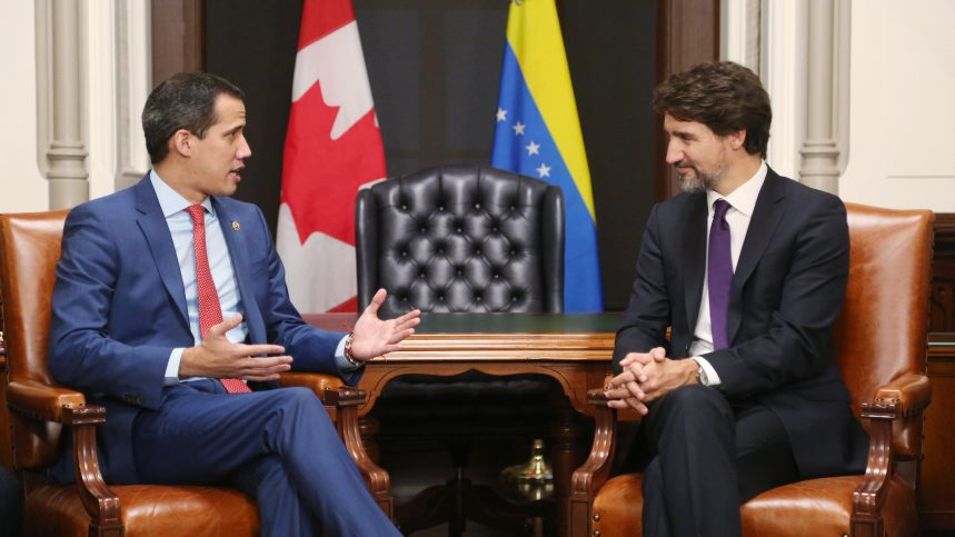Trudeau has backed opposition leader Juan Guaido (AFP)