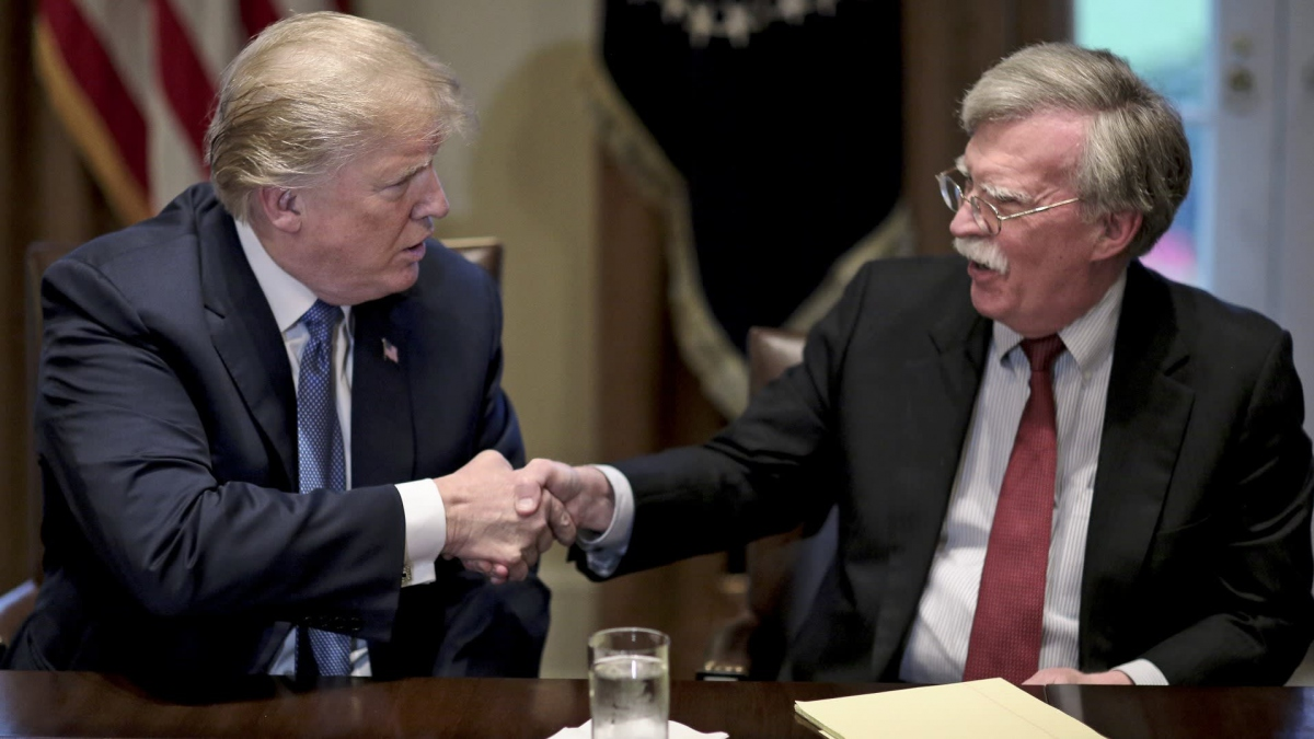 Trump and National Security Advisor John Bolton have Venezuela in their sights. (AP)