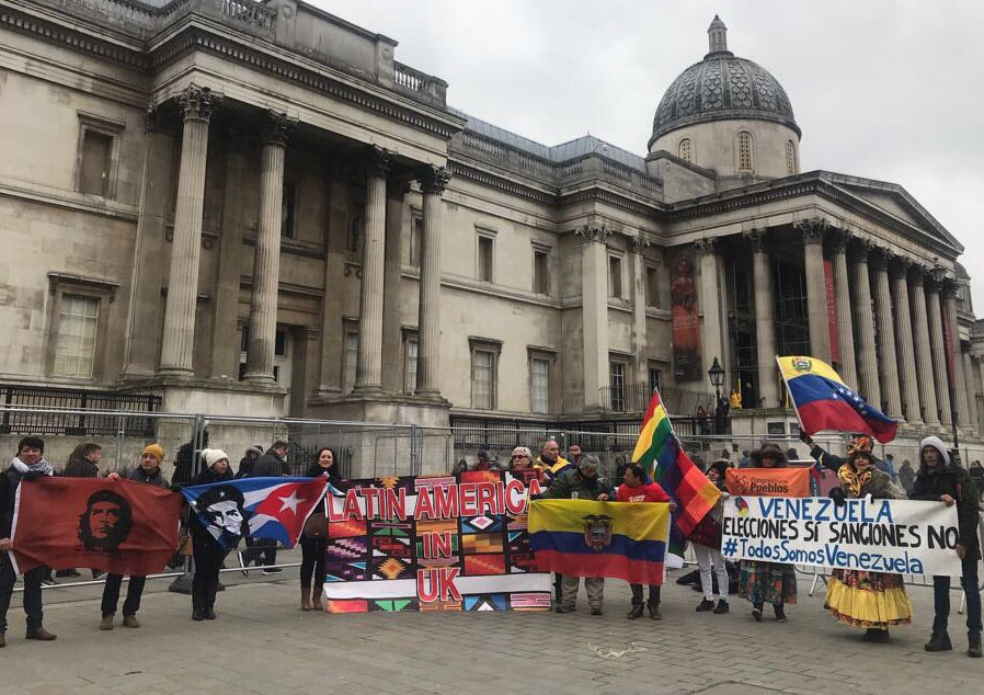 United Kingdom:  Concentration in London Against Intervention In Venezuela