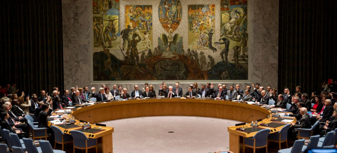 A host of countries urged respect for Venezuelan sovereignty at the UN Security Council on Wednesday. (UN/Mark Garten)