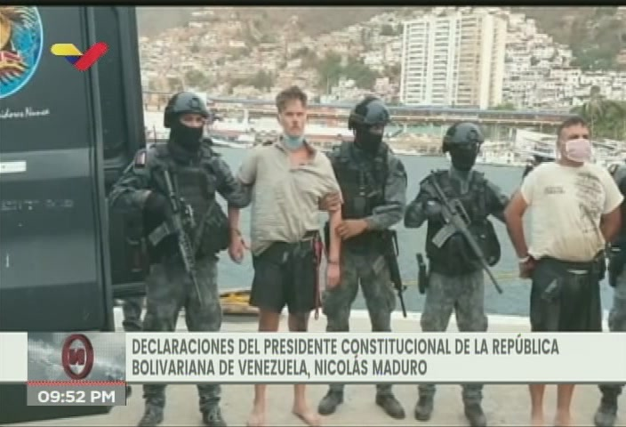 Two former US soldiers were captured in a failed paramilitary incursion on Monday. (VTV)