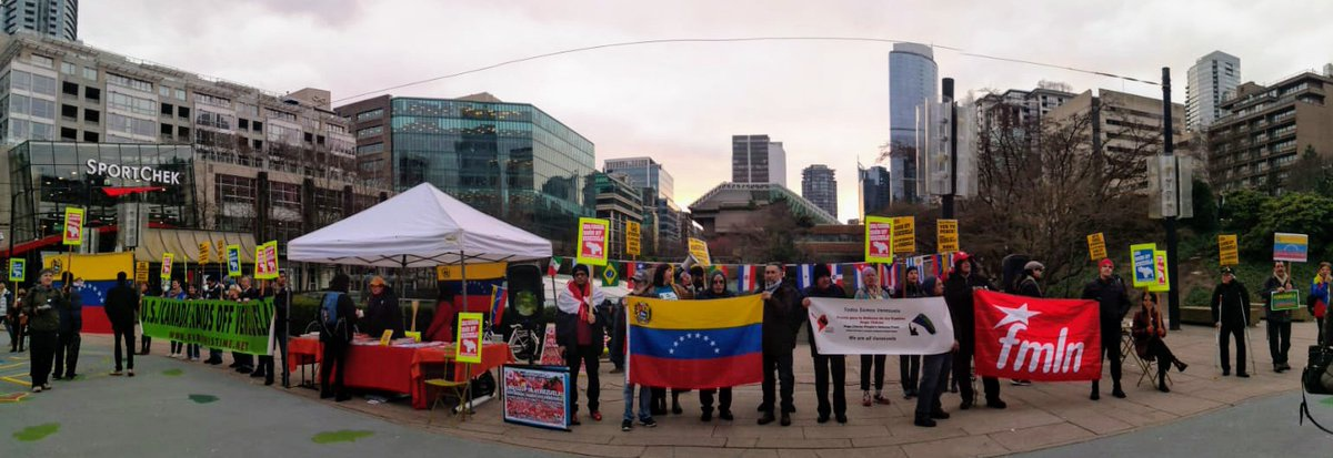 Hands Off Venezuela protest in Vancouver, Canada, on January 26. (Fire This Time)