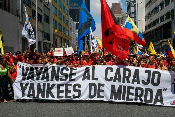 Protest against the US sanctions, Caracas, November 2018. (El Mundo)