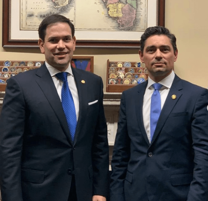 Vecchio with Florida Sen. Marco Rubio. (Archive)