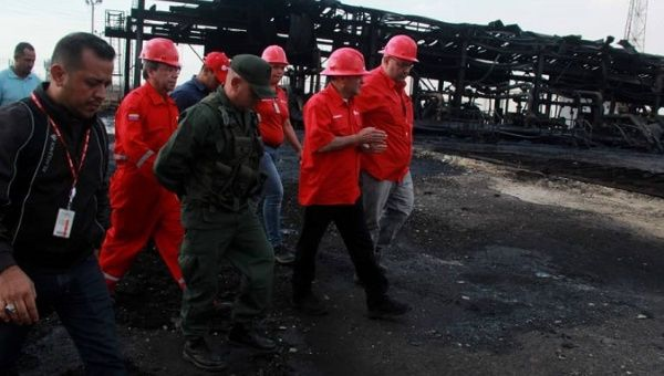 Venezuela's oil minister Quevedo reports that there were no fatalities. However, the attack was aimed at economic damage since the target was a crude oil processing plant. (VTV)