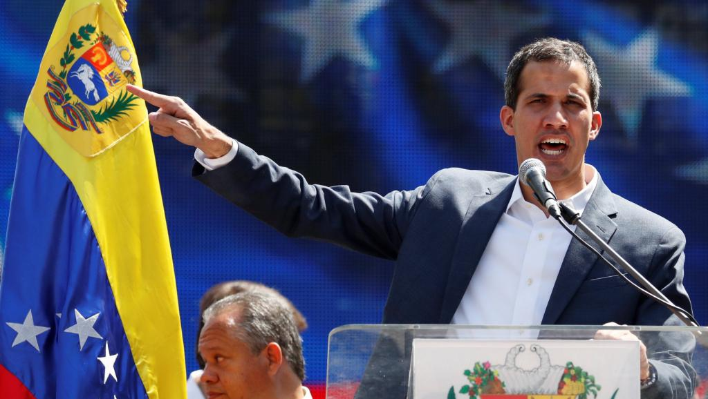 Juan Guaido welcomed the support from the European powers. (Carlos Garcia Rawlins / Reuters)