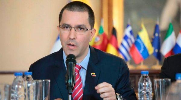 Venezuelan Foreign Minister Jorge Arreaza tweeted the statement on Twitter. (Cancilleria_VE/Twitter)