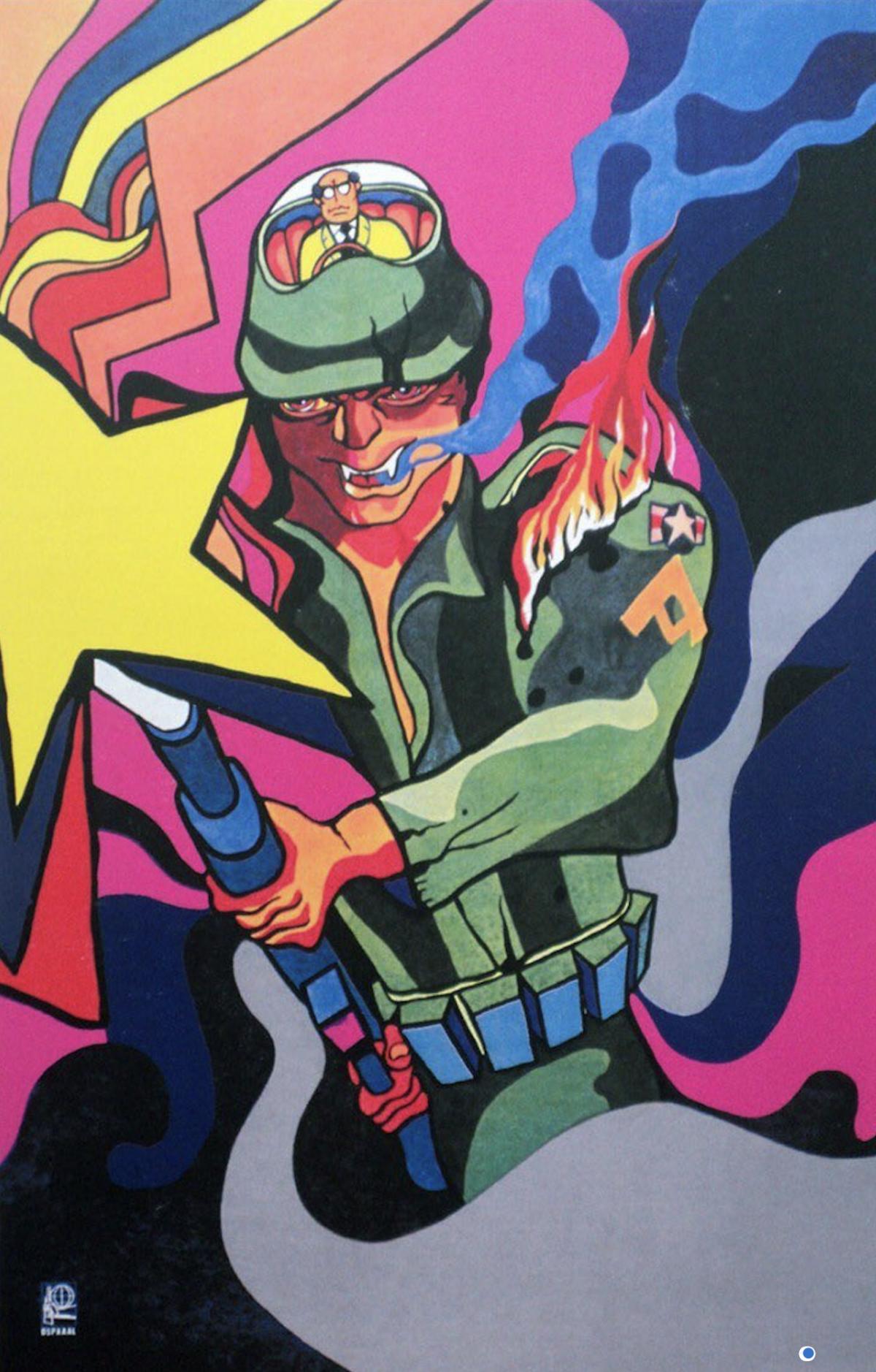 Alfredo Rostgaard, OSPAAAL poster, 1969.