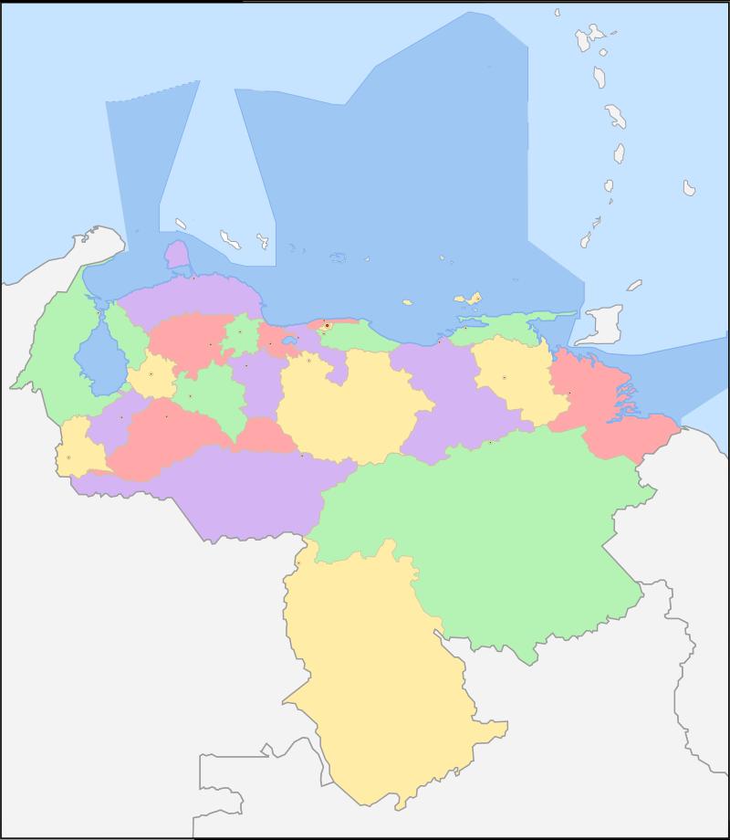 Venezuela's maritime limits. (Wikipedia)