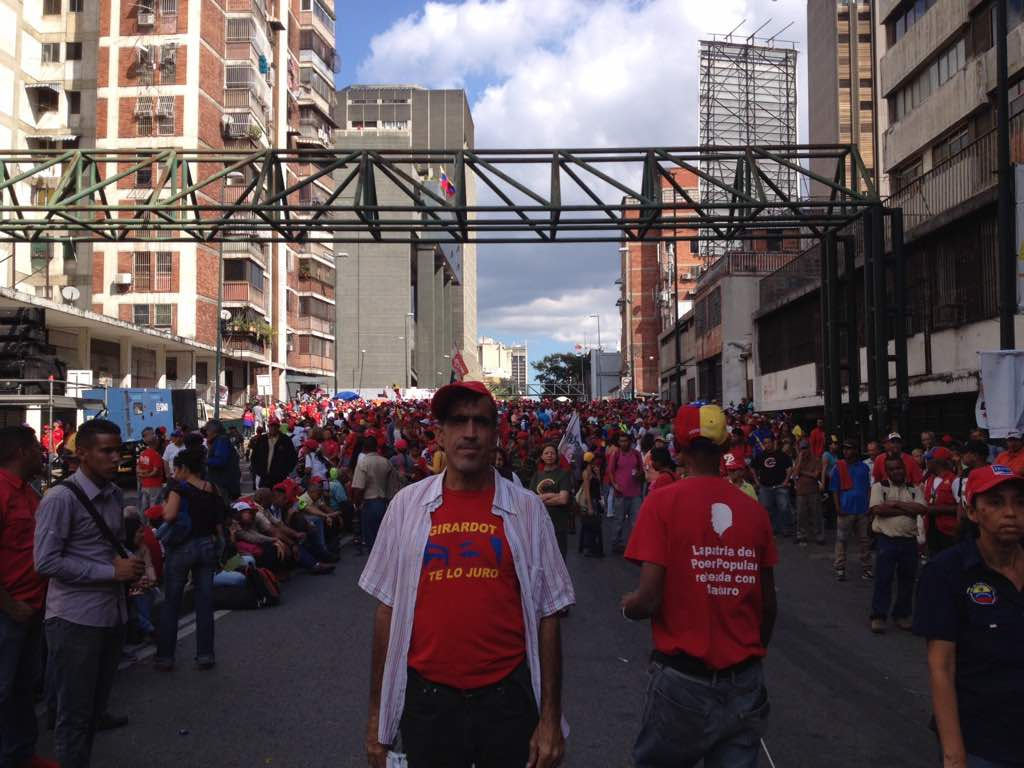 Venezuelans show their support for Maduro