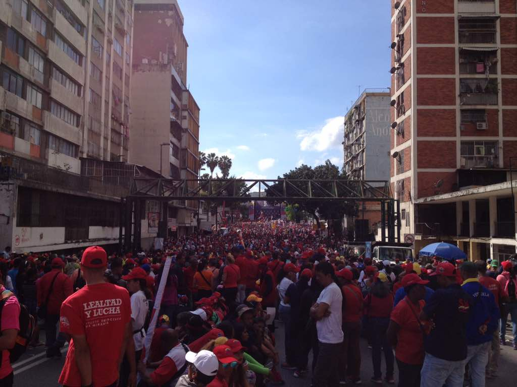 Thousands of Venezuelans marched to Miraflores Palace, where they were received by President Nicolas Maduro