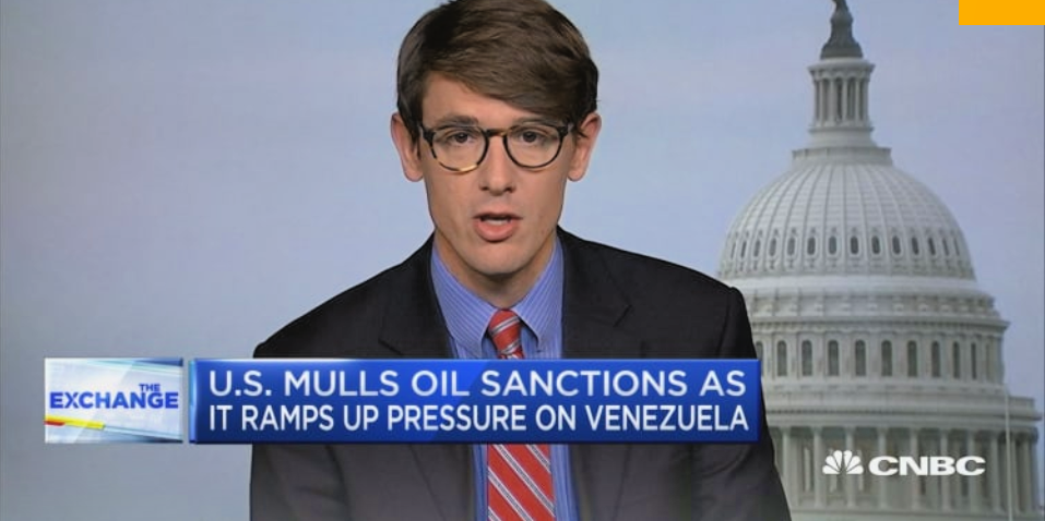 "WOLA are frequently featured on mainstream outlets to provide ""left"" support for regime-change in Venezuela. (Screenshot)"