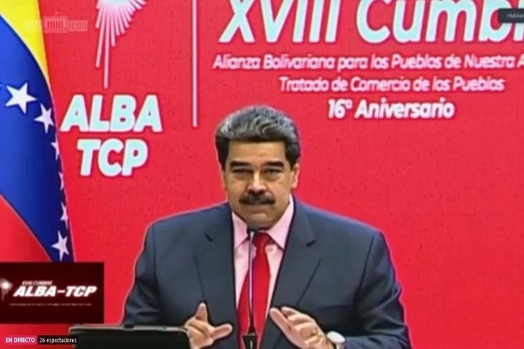 President Nicolas Maduro participates at the ALBA XVIII virtual Summit (Prensa Latina)
