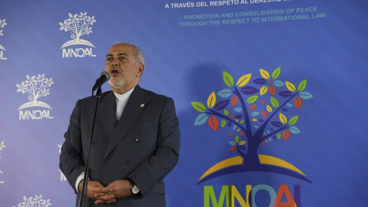Iranian Foreign Minister Mohammad Javad Zarif at the NAM gathering. (AFP)