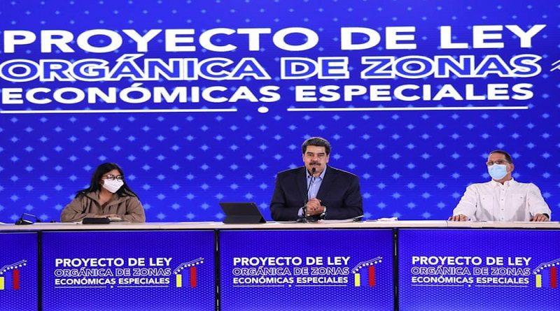 President Nicolás Maduro promotes the Special Economic Zones project. (VTV)