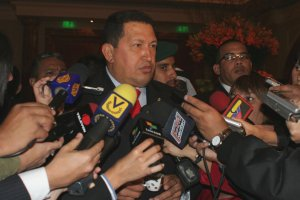 Venezuelan President Hugo Chavez in Japan this week (ABN)