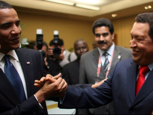 """""""I want to be your friend,"""" President Chavez told Obama after being approached by him before the start of the Summit."""