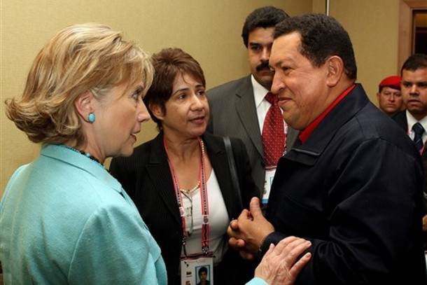 President Chavez of Venezuela spoke to Secretary of State Hillary Clinton about the need for appointing new ambassadors to each contry