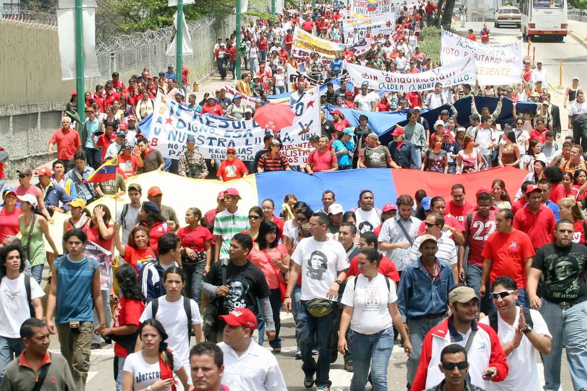 The student march on Tuesday (ABN)