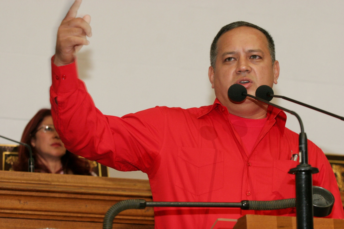 """""""Minister Diosdado Cabello in the National Assembly on Thursday"""" (ABN)"""