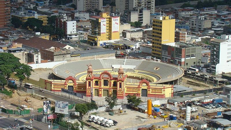 Aerial shot of Nuevo Circo de Caracas, circa 2008 (Damián D. Fossi Salas)