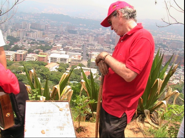 Overlooking the city of Caracas