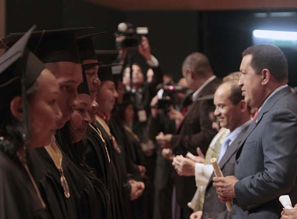 President Chavez during Nursing School graduation ceremony (PP)